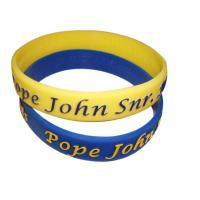debossed silicone wristbands for sale