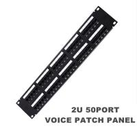 Wholesale 19Inch 2U 50Port Patch Panel RJ11 Rack Voice Patch Panels Cat3 2U Patch Panels from china suppliers