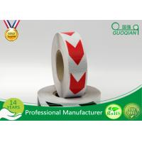 Quality Dark Self Adhesive Arrow Reflective Electrical Warning Tape For Truck / Vehicles for sale
