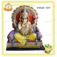 Wholesale Polyresin Hindu God Statues-sitting Ganesh Murti from china suppliers
