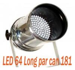 Quality Digital Led Par 64 Stage Lighting Long Par Can 181 / 177 Entertainment Lighting for sale