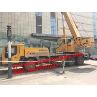 Wholesale Yellow Diesel Truck Crane QY35K5 / Telescopic Boom Crane with 36930kg Payload from china suppliers