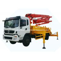 China 26m -31m Small Mobile Concrete Mixer Pump Truck With DFAC King Run Chassis for sale