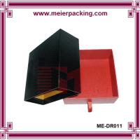 Wholesale Leather tie slider paper drawer box, Customized Retail Cosmetic Handmade Gift Box ME-DR011 from china suppliers