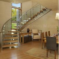 Buy cheap Internal residential glass treads curved staircase from wholesalers