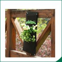 Wholesale 4 Pockets Black Color Recycled Vertical Wall Garden Planter / Balcony Plant Grow Bag from china suppliers