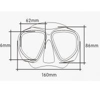 Quality Pink Tempered Lens Super Clear Silicone Diving Mask For Adult , Wide Version for sale