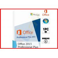Buy cheap Microsoft Office 2013 Professional 32/64-bit DVD and Key NEW SEALED 100% working office 2013 pro plus license from Wholesalers