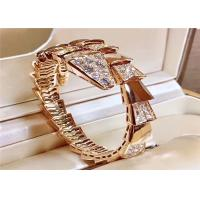 Wholesale Women 'S 18K Rose Gold Ladies Diamond Bracelet , Bulgari Serpenti Bangle BR855312 from china suppliers