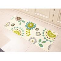 China White Dandelion flowers style Anti-slip printed floor mats for Home decoration in kitchenroom , 45×120cm on sale