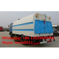 China dongfeng 145 CUMMINS 170HP RHD/LHD vacuum sweeping truck for sale, best price dongfeng brand 8m3 sweeping suction truck for sale