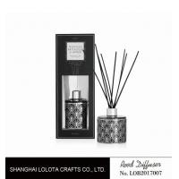 Wholesale applique pattern clear bottle reed diffuser with exposure folding box from china suppliers