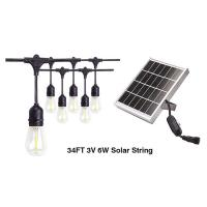 China 3v 6w 34ft Outdoor Solar LED String Lights For Garden E27 LED Filament Bulbs For Decoration on sale