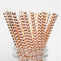 Wholesale Colorful Gold Stamping Wave Pattern Decorative Paper Drinking Straws Customized Size from china suppliers