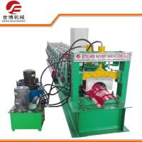 China Running Stably Steel Roof Ridge Cap Roll Forming Machine With Press Mould on sale