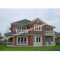 China Prefabricated Luxury Light Weight Customized Pre-Engineered Building Steel Villa House for sale