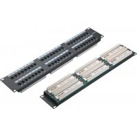 Wholesale UTP 48 Port Patch Panel 2U AMP Type Cat5e Patch Panels for Computer Center YH4015 from china suppliers