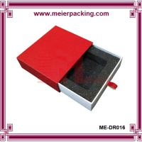 Wholesale Personalized printed sliding paper jewelry box with EVA foam insert ME-DR016 from china suppliers