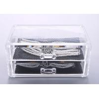 Quality Two Drawers Jewellery Organizer Box Plastic Crystal PS 198 x 102 x 93mm for sale