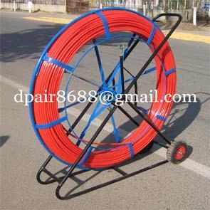 Fiberglass conduit rod reel&push rod