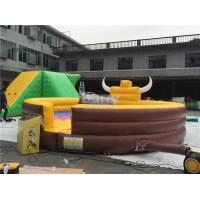 Quality Funny Large Inflatable Mechanical Bull Games For 1 People  , Inflatable Rides for sale