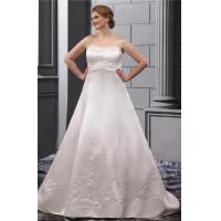 Wholesale Strapless Sweetheart Plus Size Designer Wedding Gowns Embroidered Sweep Train from china suppliers