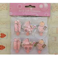 Wholesale baby room decoration pegs mini gift wood pegs pink from china suppliers