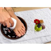 Wholesale Prasied Jacquard Jacquard Bath Mat White Color With Embossed Logo from china suppliers