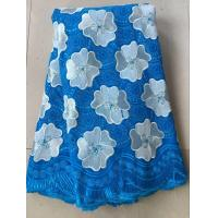China Light blue china swiss voile lace sunflower cotton special swiss voile dry lace for clothes on sale