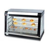 Wholesale Electric Heating Food Warmer Showcase Counter-top Curved Glass Bread Hot Display Cabinet from china suppliers