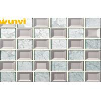 Wholesale Bedroom Bed Wall Snow White And Light Grey Mirror Glass Mosaic Tiles from china suppliers