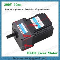 Wholesale 36V, 48V, 72V, 300W low voltage BLDC gear motor reduction ratio 5:1 from china suppliers