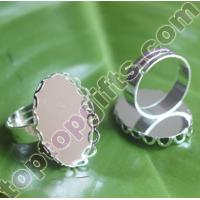 China oval metal craft ring accessories on sale