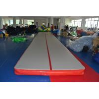 Quality Outdoor Inflatable Air Track Gymnastics Mat / Inflatable Bouncing Mat Customized for sale