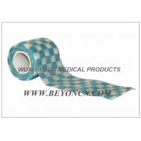 Wholesale Cohesive Self Adhesive Bandage Blue OEM Check Elastic Wrap For Fixation from china suppliers