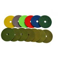 """Buy cheap 4"""" Wet Diamond Resin Polishing Pads For Marble / Synthetic Stone High Gloss from wholesalers"""