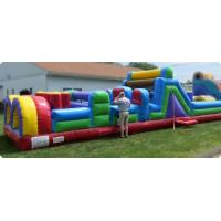 Wholesale Giant Pool Inflatable Obstacle Course 40 Foot Kids Obstacle Course Water Slide from china suppliers