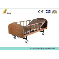"Wholesale Medical Wooden Medical Hospital Beds Double Cranks With 4pcs 4"" Noiseless Castors ( ALS-HM002) from china suppliers"