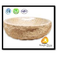 Xiamen Kungfu Stone Ltd supply Indoor Yellow G682 Stone Sink  For Kitchen,Bathroom for sale