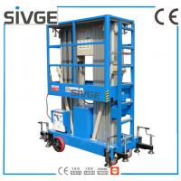 Quality 1330 * 600mm Vertical Mast Lift 12 Meter Platform Height For 2 Persons Work for sale