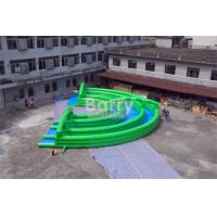 Quality Crazy Fun Green Inflatable City Slide Big Inflatable Slides For Street / Road for sale