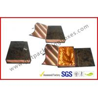 Wholesale Leather Rigid Gift Boxes For Luxury Gift Packing , Embossed Foldable from china suppliers