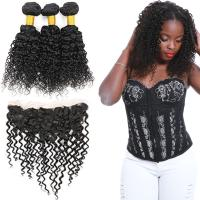 Wholesale 100 Unprocessed Virgin Malaysian Hair 3 Bundles Water Wave With Lace Frontal from china suppliers