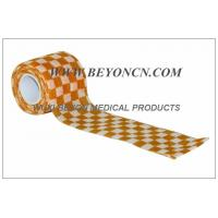 Wholesale Self Adhesive Elastic Bandage / Self Adherent Wrap with Orange Check Printing from china suppliers