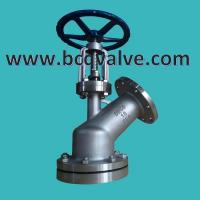 Wholesale flanged END 45 degrees Y-type (emptying angle seat) baiting  valve from china suppliers