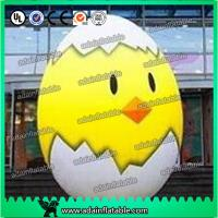 Wholesale 2m Inflatable Chicken Cartoon Advertising Giant Egg Inflatable For Event from china suppliers