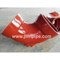 Buy cheap Ductile iron pipe fittings, double socket bend with outlet. from wholesalers