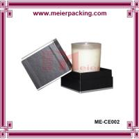 Wholesale Customized Scented Candles Packaging Box, Two Pieces Black Candle Paper Box ME-CE002 from china suppliers