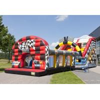 Wholesale Safety Auto Word Slide Red Commercial Inflatable Slide With Obstacle Course from china suppliers