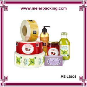 Wholesale Cosmetic bottle packaging label sticker, waterproof plastic bottle logo sticker ME-LB008 from china suppliers